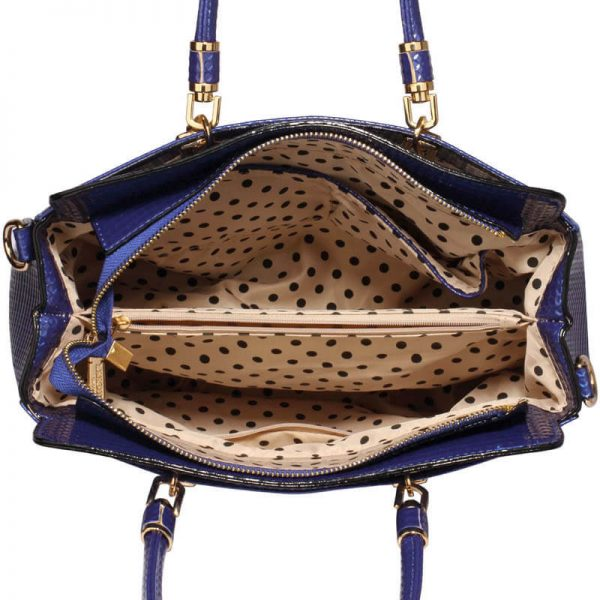 Navy Womens Tote Bag With Polished Hardware_(3)