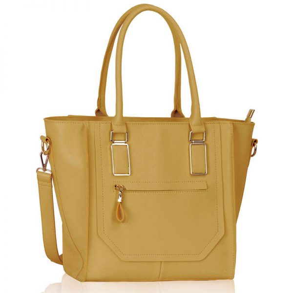 Nude Tote Bag With Long Strap – LS00323