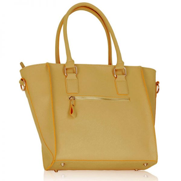 Nude Tote Bag With Long Strap – LS00323_(2)
