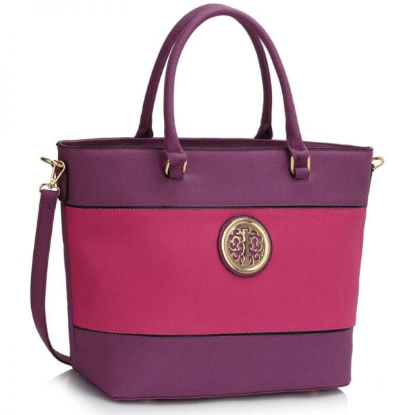 Purple Fuchsia Shoulder Handbag For Women – Ls00406A