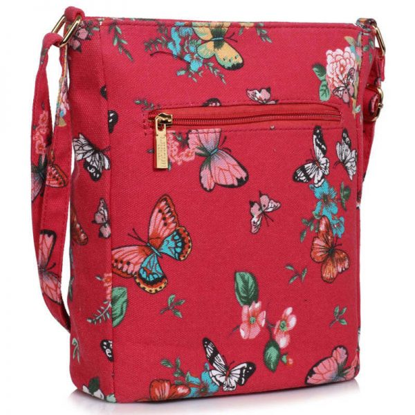 Red Butterfly Canvas Cross Body Bag – LS00488_(1)