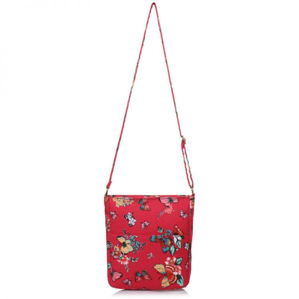 Red Butterfly Canvas Cross Body Bag – LS00488_(2)