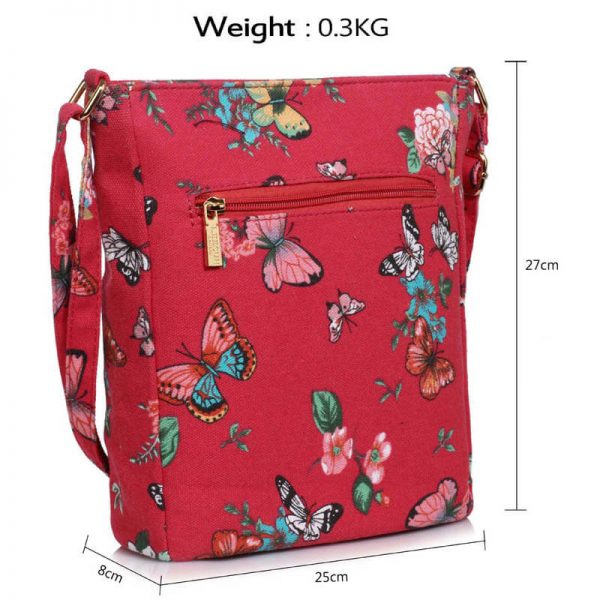 Red Butterfly Canvas Cross Body Bag – LS00488_(4)