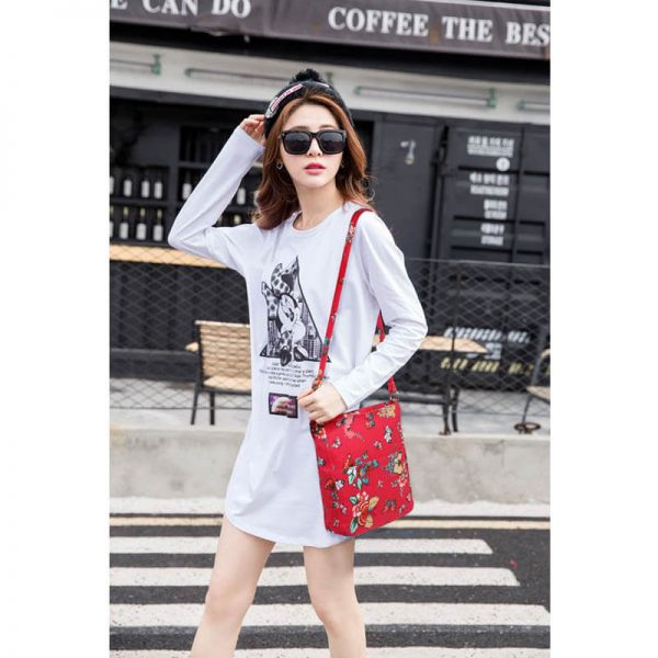 Red Butterfly Canvas Cross Body Bag – LS00488_(5)