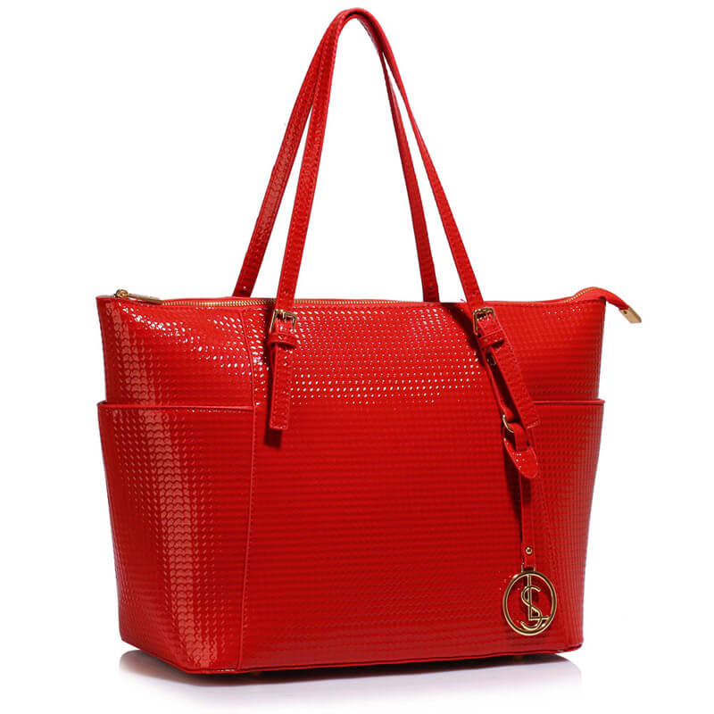 Red Womens Large Tote Bag