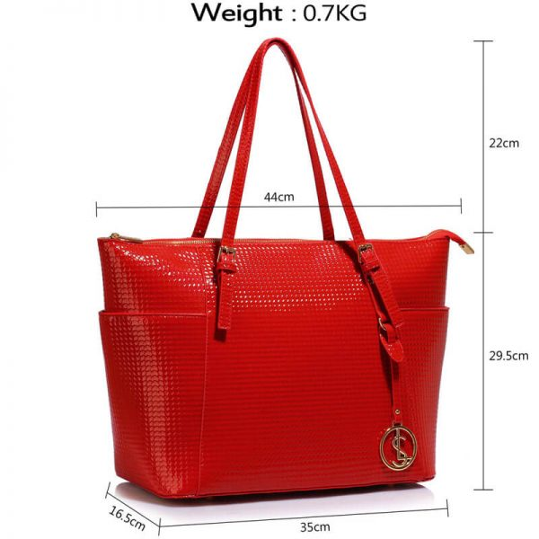 Red Womens Large Tote Bag – LS00350A_4_