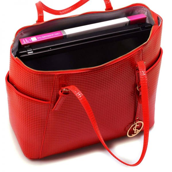 Red Womens Large Tote Bag – LS00350A_5_