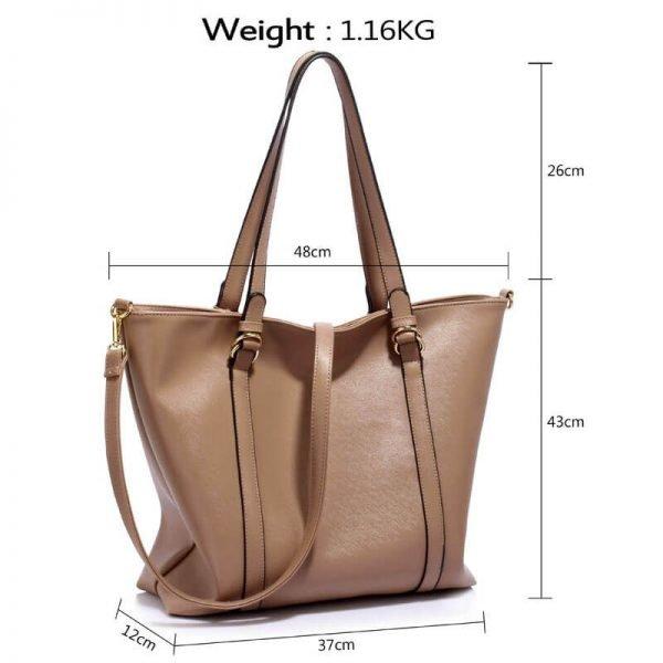 Taupe Handbag For Women – LS00413_(4)