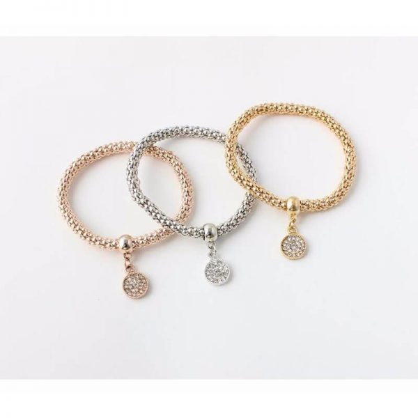 3 Piece Bracelet Set Adjustable – Round Shape AB20