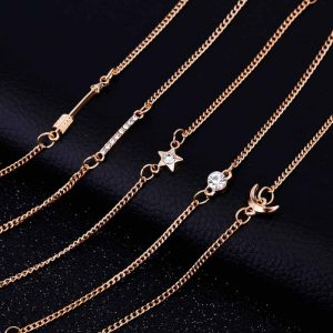 5 Piece Bracelet Set Gold - Adjustable