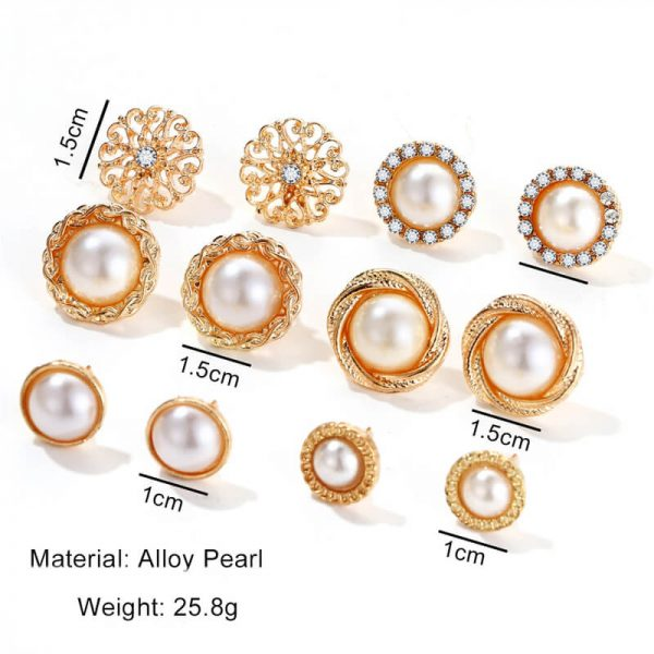 6 Pair Gold earring Set AS40-