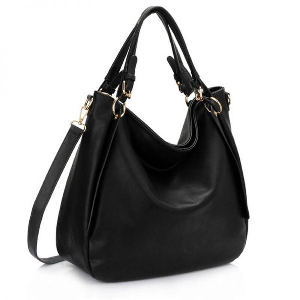 AG00448-Large Hobo Shoulder Bag BLACK__1_
