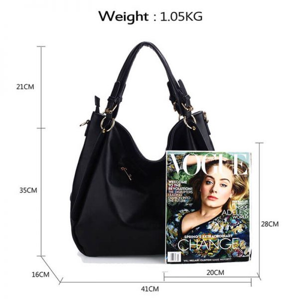 AG00448-Large Hobo Shoulder Bag BLACK__2_