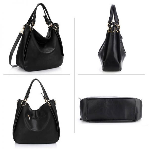 AG00448-Large Hobo Shoulder Bag BLACK__3_