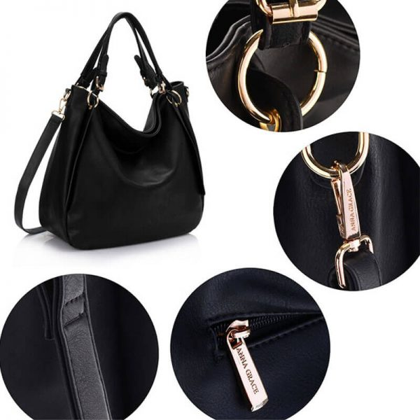 AG00448-Large Hobo Shoulder Bag BLACK__5_