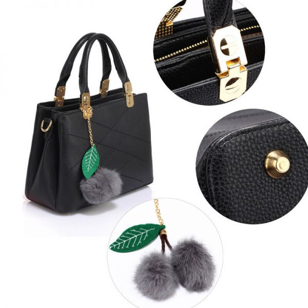 AG00537S – Tote Shoulder Bag With Faux-Fur Charm-BLACK__6_