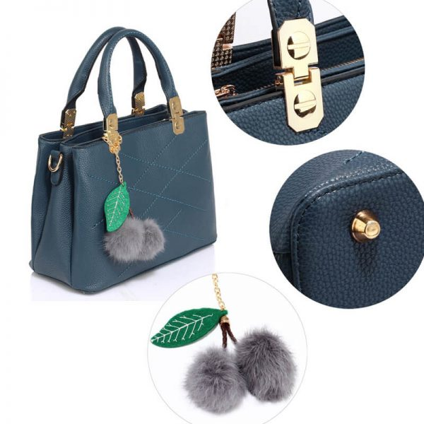 AG00537S-Tote Shoulder Bag With Faux-Fur Charm NAVY__6_