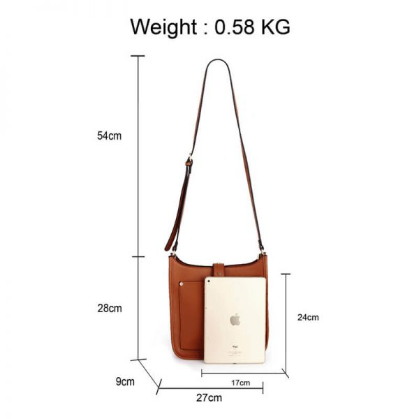 AG00588_Brown_Fashion Cross Body Shoulder Bag_2_