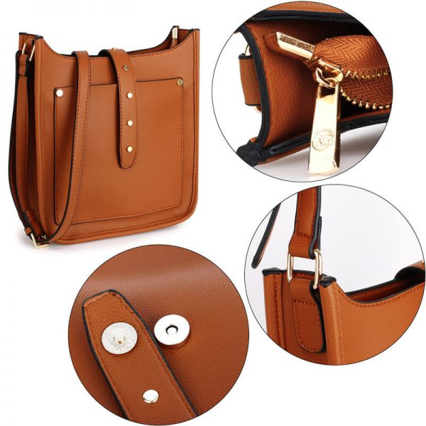 AG00588_Brown_Fashion Cross Body Shoulder Bag_5_
