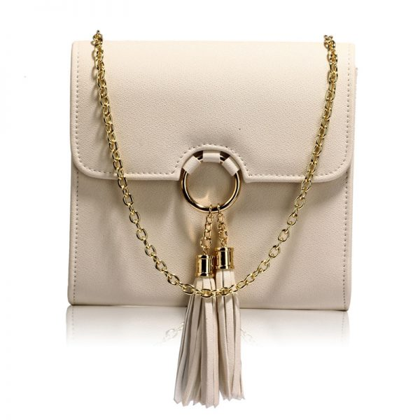 AGC00348 -nude Flap Clutch Purse With Tassel 1_