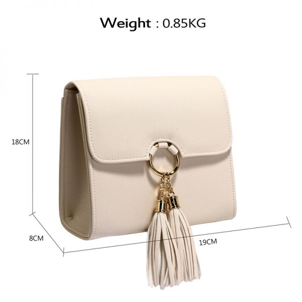 AGC00348 -nude Flap Clutch Purse With Tassel_2_