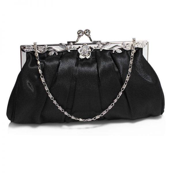 AGC0098 – Black Crystal Evening Clutch Bag