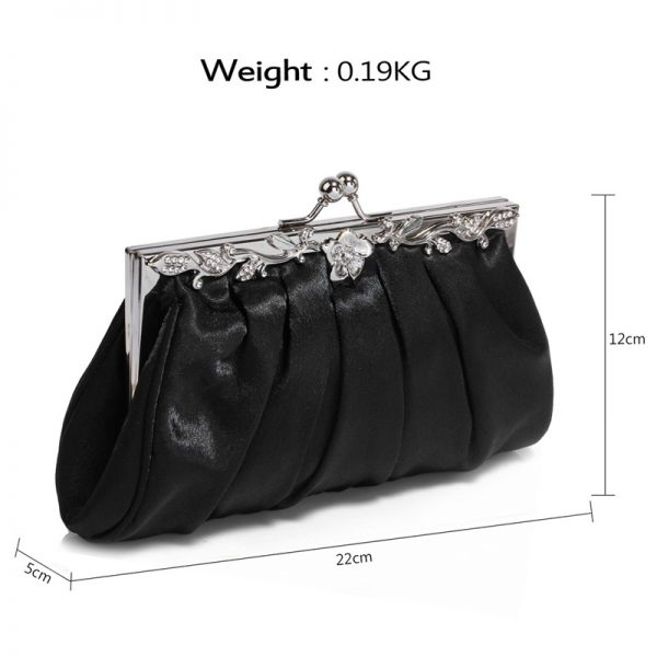 AGC0098 – Black Crystal Evening Clutch Bag_2_