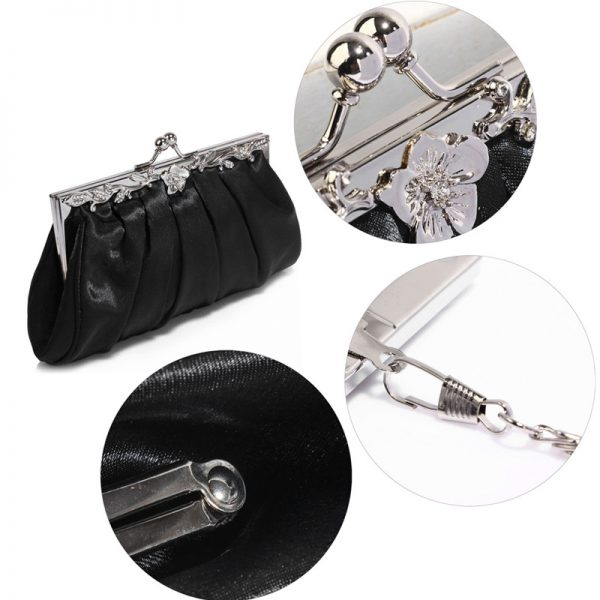 AGC0098 – Black Crystal Evening Clutch Bag_5_