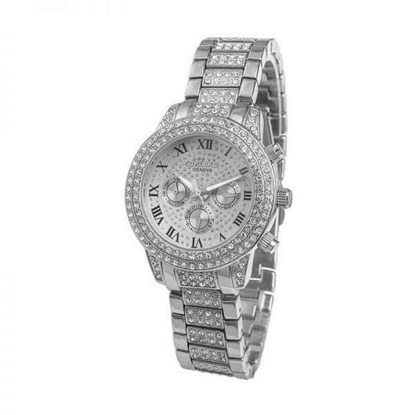 AW03 Silver Diamantes Luxury Stainless Steel Watch For Women