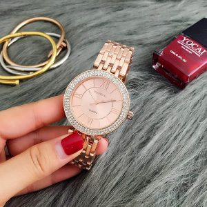 AW06 Rose Gold Diamantes Luxury Stainless Steel Watch For Women