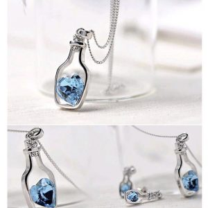 Bottle Necklace - Silver