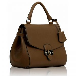 Coffee Flap and Twist Lock Satchel