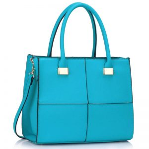 Teal Fashion Tote Handbag