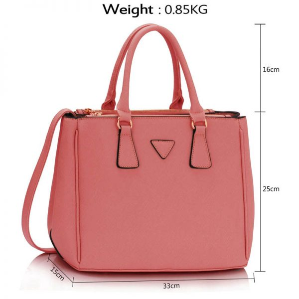 937b7878ce29 Pink 3 compartment Tote Handbag Buy Online From Zardi