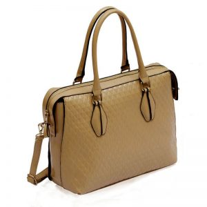 Nude Tote With Long Strap