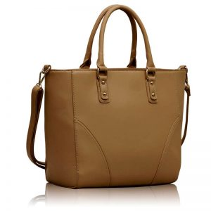 Nude Shoulder Handbag