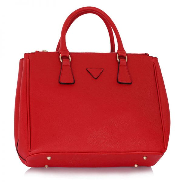 LS00260 Grab Tote Handbag Red_(2)