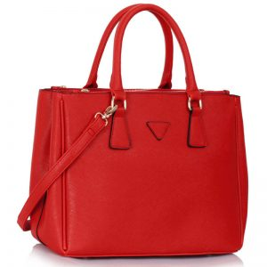 Grab Tote Handbag Red
