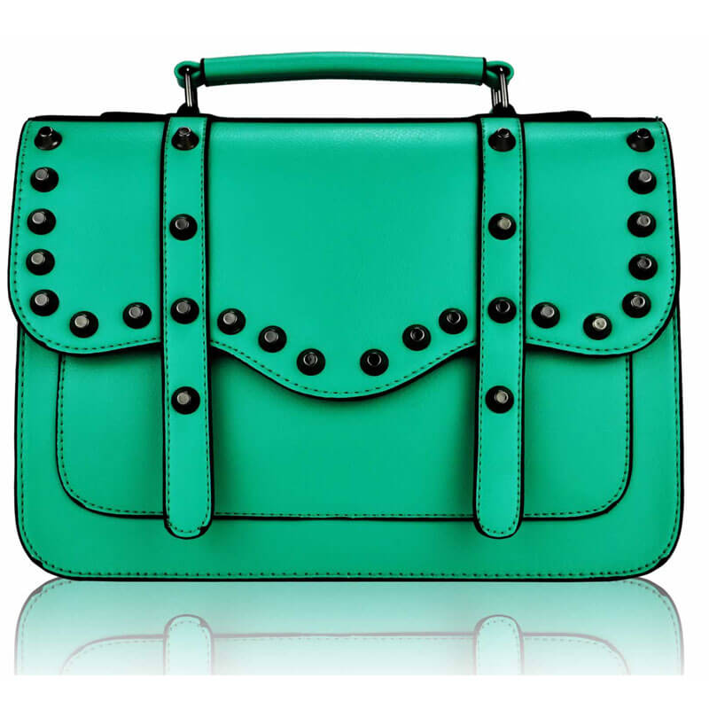 Emerald Studded Satchel