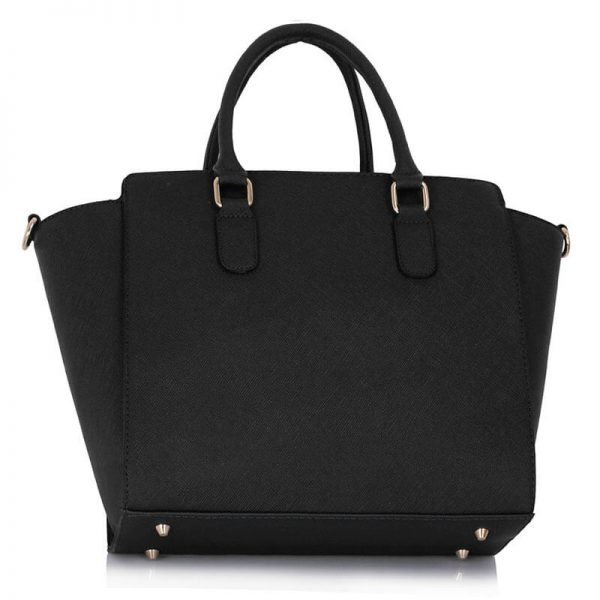 LS00287 – Black White Studs Decorated Tote Bag_(2)
