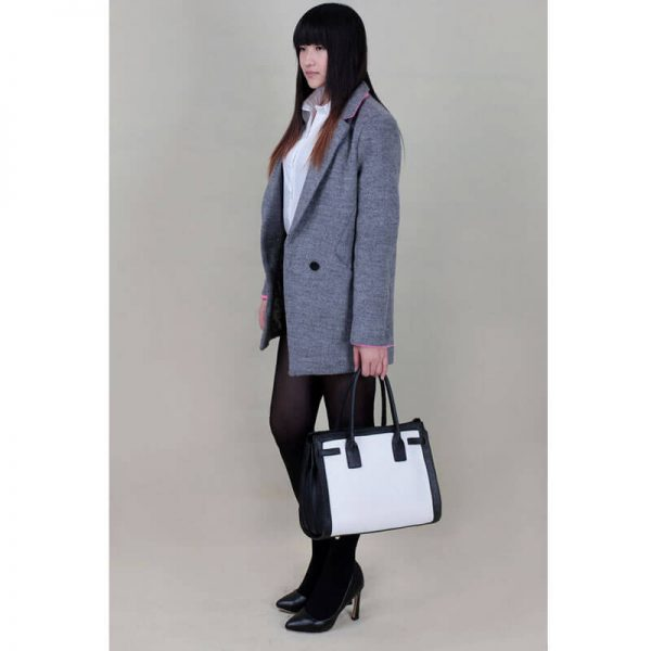 LS00325 – Black White Grab Tote Handbag_(5)