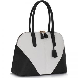 BlackWhite Ladies Designer Handbag Purse