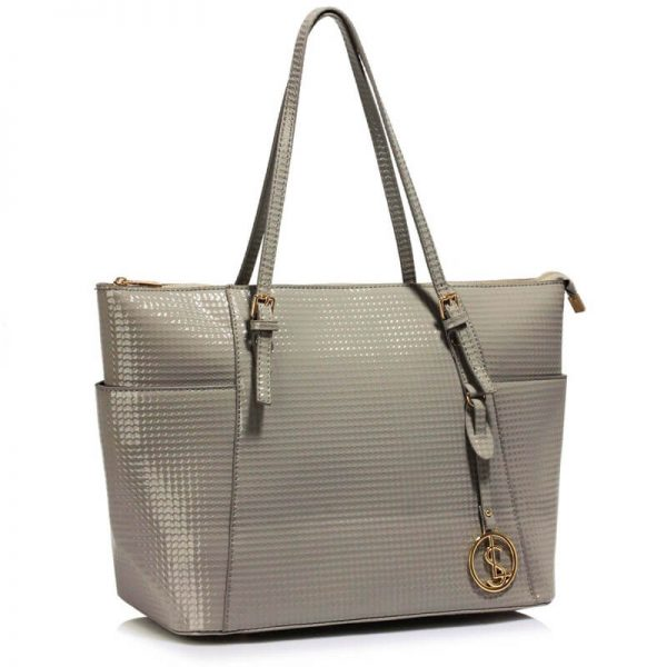 LS00350A – Grey Womens Large Tote Bag_1_