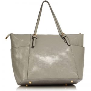 Grey Womens Large Tote Bag