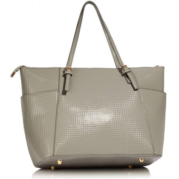 LS00350A – Grey Womens Large Tote Bag_2_