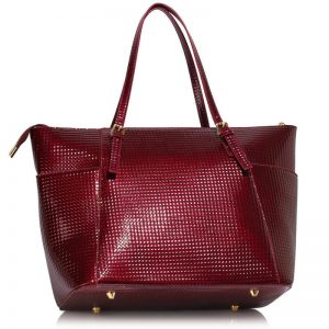 burgundy Womens Large Tote Bag