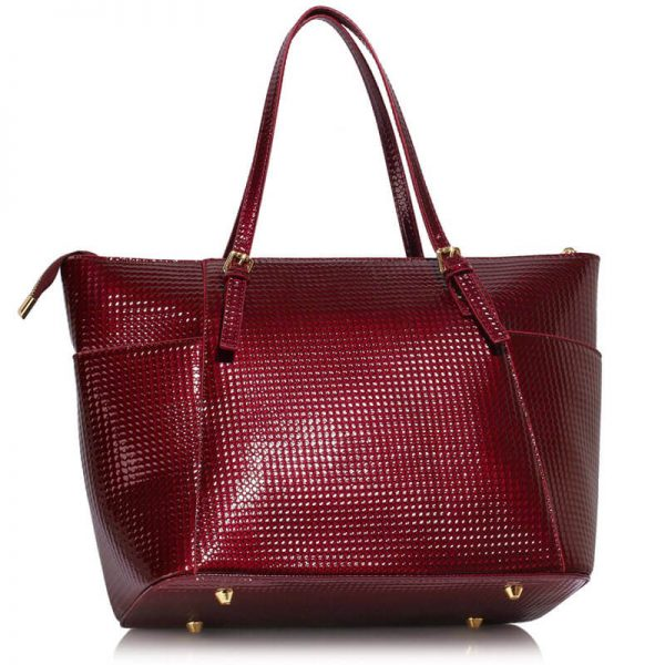 LS00350A – burgundy Womens Large Tote Bag_2_-2