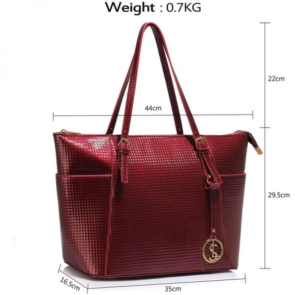 LS00350A – burgundy Womens Large Tote Bag_4_-2