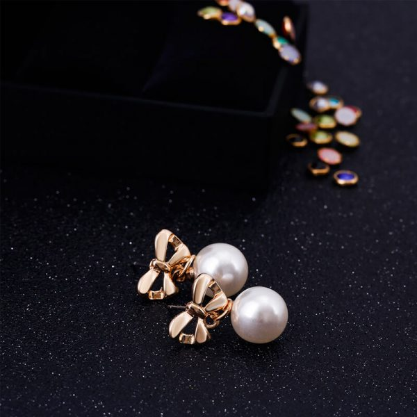 Pearl Butterly Gold Earring AE81—