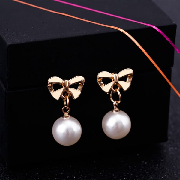 Pearl Butterly Gold Earring AE81